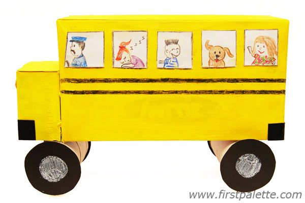 Tissue Box Crafts Preschoolers Box Truck And Bus Craft