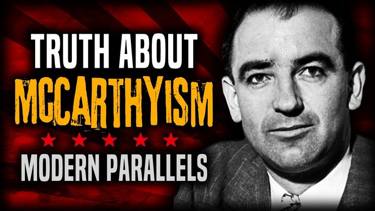 McCarthyism is the practice of making accusations of subversion or treason without proper regard for evidence.