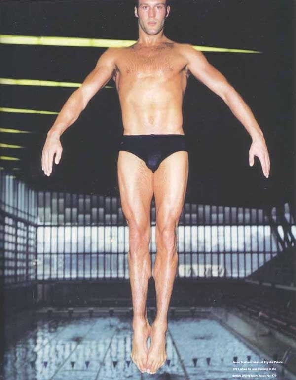 Jason Statham when he was a member of Britain's National Diving Squad