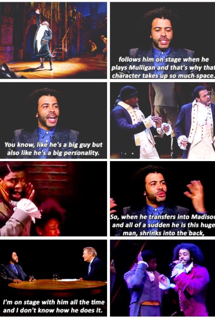 Oke ability to portray himself so differently as Hercules Mulligan and James Madison