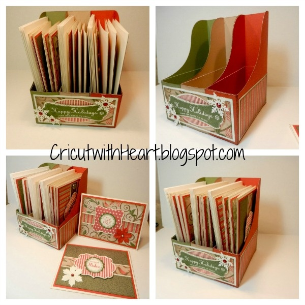 Cricut with Heart: Christmas Card Keeper with Artiste: Christmas Cards, Crafts Ideas, Ctmh Ideastutori, Books Holders, Cards Keeper, Cereal Boxes, Cards Holders, Ctmh Cricut, Paper Crafts