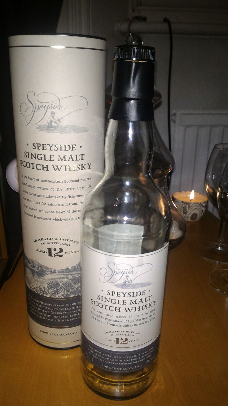 Speyside, single malt, 12 years, Scotland.