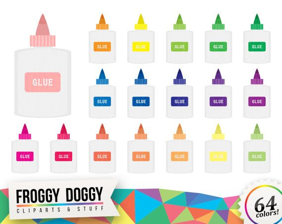Glue Clipart, Classroom Clipart, Office Clipart, Documents Clipart, Office Supplies, Planner Clipart, Scrapbooking Cliparts