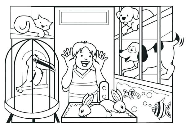 Pets Coloring Pages Animal Coloring Pages Animals For Kids