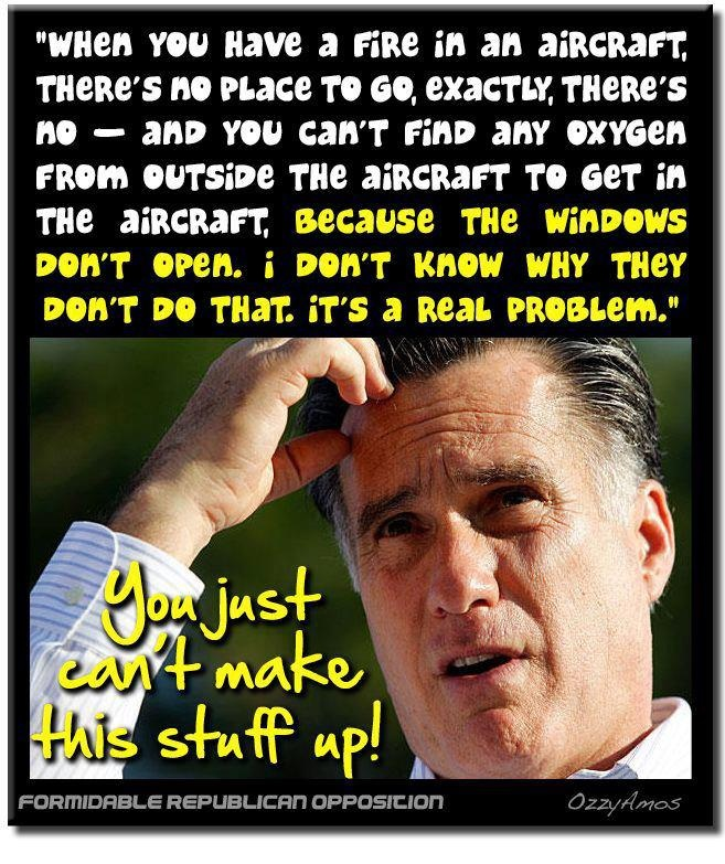 Mitt Romney wonders why you can't open airplane windows