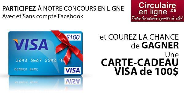 Concours Gagnez Une Carte Cadeau Visa De 100 En 2020 Carte