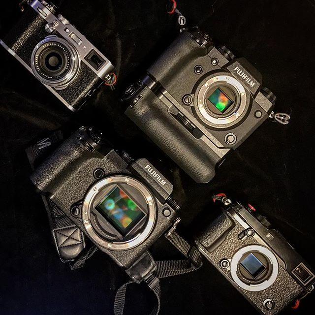 Now you have the perfect line up... No excuses now!  Fujifilm X-H1/X100F/GFX50S/XPRO2 - - #fujifilm #fujifilm_uk #fujifilm_xseries #fujifilmxh1 #fujifilm_xh1 #xh1 #fujifilm_x_h1 #cameraporn #gearporn #camera #xphotographer #xphotographers #newcamera #unboxing #photography #inmybag #breakingnews #outnow #new #xseries #fujixh1 #fujixseries #x100f #gfx #gfx50s #xpro2 #mirrorless