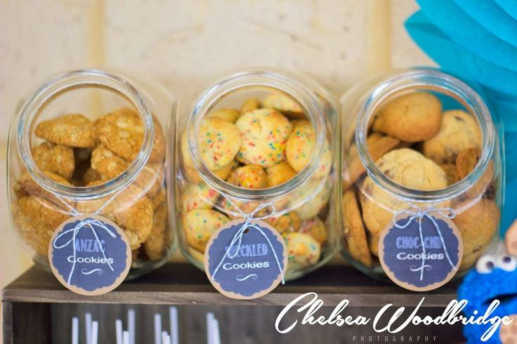 Cookie Bar - Hudson's Milk and Cookie Monster 1st Birthday | CatchMyParty.com