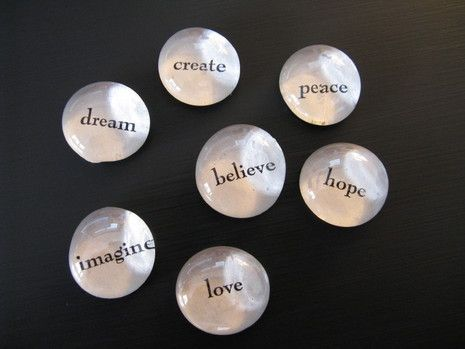 easy how-to for making inspiration stones    You could use English words or words from another #language.