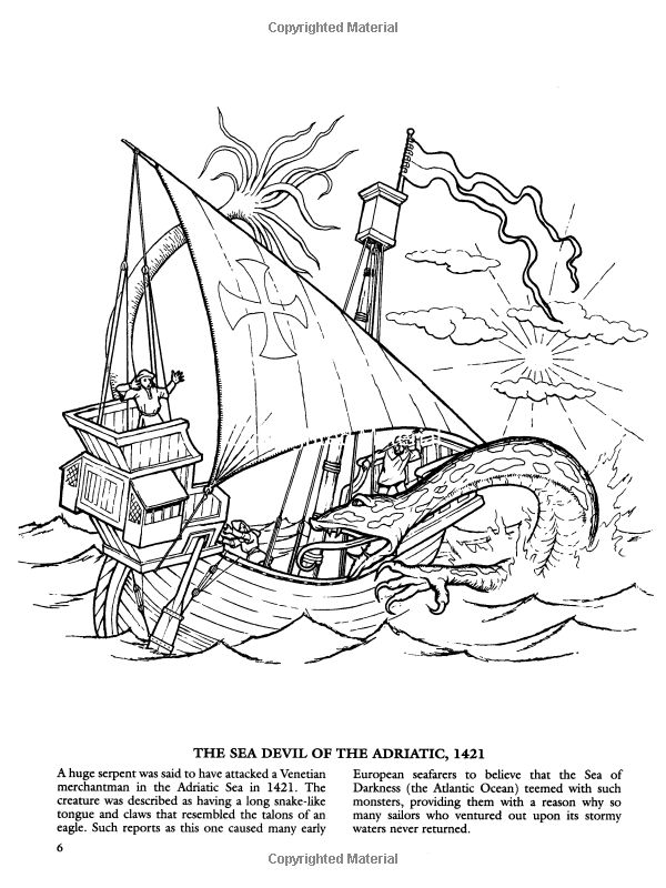 coloring pages sea monster games - photo#24