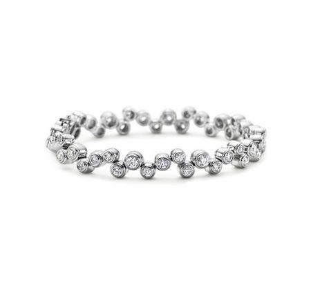 Tiffany Bubbles Bracelet - Modello in platino impreziosito con diamanti tondi fra i bracciali Tiffany più belli di sempre