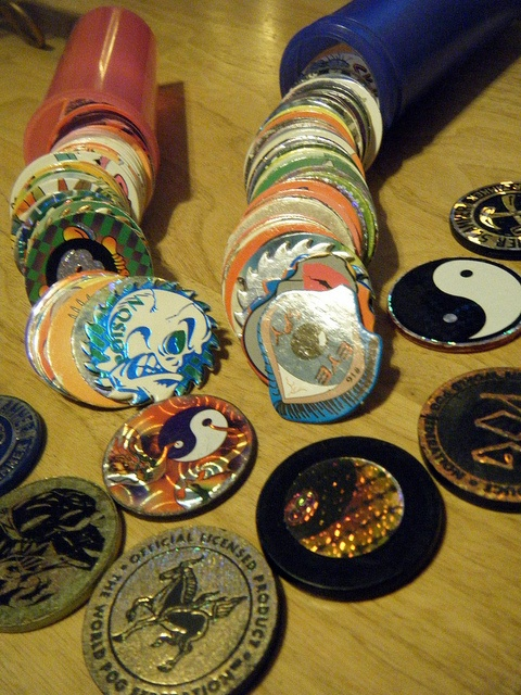 POGS! No one is 100% sure about what they were or how you should play with them, but collecting Pogs was all the rage during the early '90s. #ThrowbackThursday