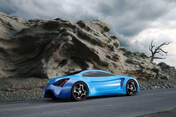 Stunning XKX Jaguar Concept Car