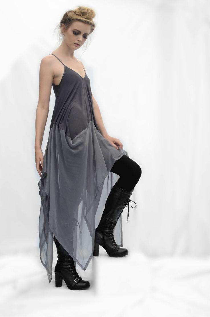 Hanky Hem Chiffon Layer Dress