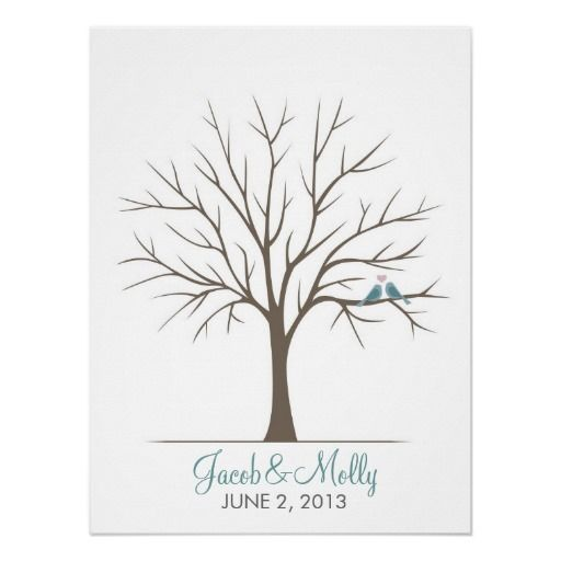 Mer enn 25 bra ideer om wedding fingerprint tree p pinterest wedding fingerprint tree classic love birds this is a great idea for a wedding guestbook it is very personal and the guests can even sign next to pronofoot35fo Gallery