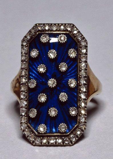 """""""Diamond & enamel ring of the heavens"""" belonged to Marie Antoinette."""
