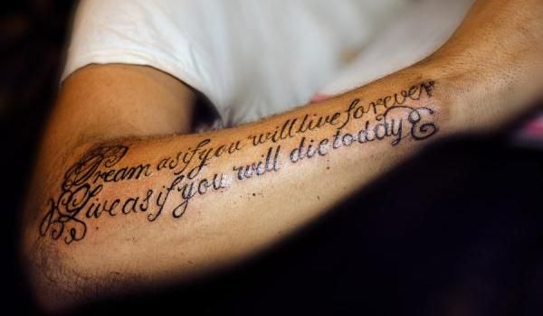 25 meaningful tattoos for men which are inspirational for Tattoo quotes for men