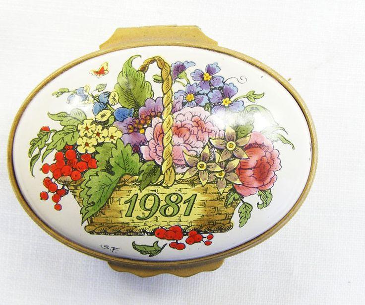 1981 Year commemorative enamel trinket box