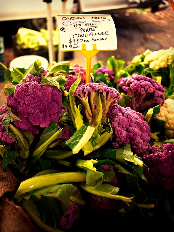 Adelaide Showgrounds Farmers Markets • purple cauliflower • Adelaide's market