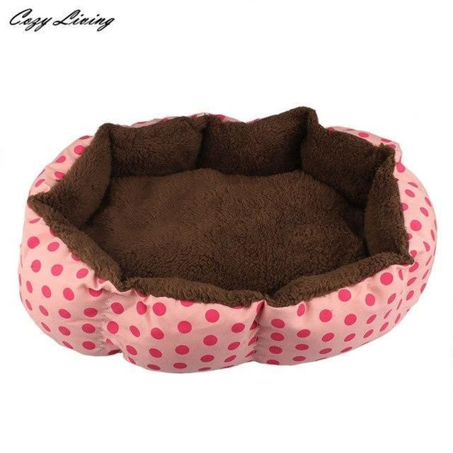 Pet Bed For Dogs 1 Pc Soft Fleece Pet Dog Puppy Cat Warm Bed House