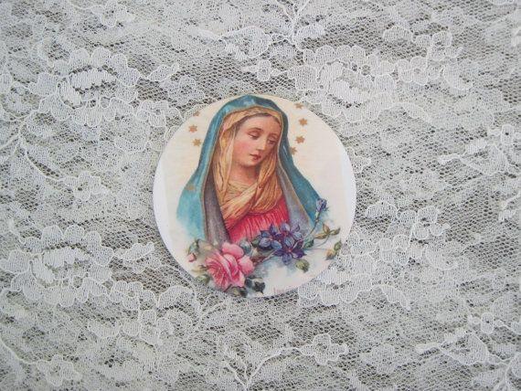 Mosaik Fliese fokale religiöse Jungfrau Maria von DesignsbyShellB