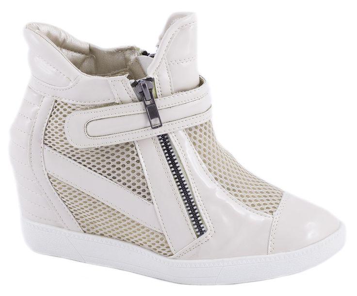 Sneakers Dama - Sneakers bej de dama A-39B - Zibra