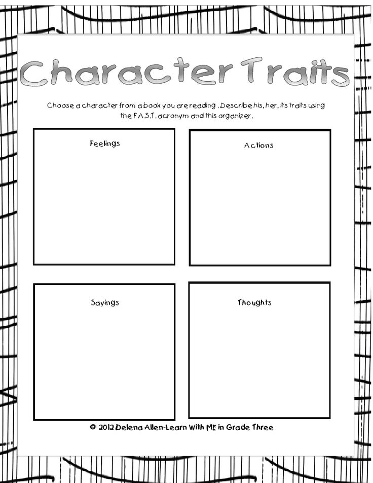 195 Best Character Traits In Reading Images On Pinterest