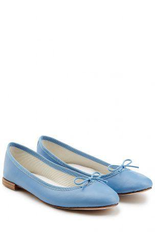 Repetto Repetto Lederballerinas Cendrillon – Blau