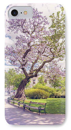 Jane Star IPhone 7 Case featuring the photograph Spring In Vienna by Jane Star  #JaneStar #IPhoneCase #Spring #Vienna #Austria