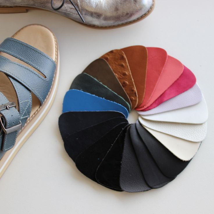 Colour swatches for custom made Kuwaii shoes. Handmade in Melbourne. Email contact@kuwaii.com.au to create your own.