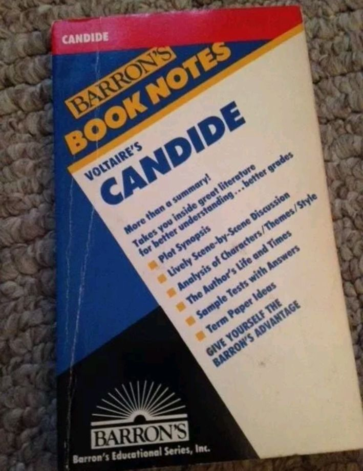 Barron's Book Notes: Voltaire's Candide Book
