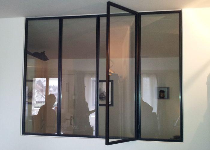 Verrière 4 vitrages avec 1 OF et un loqueteau