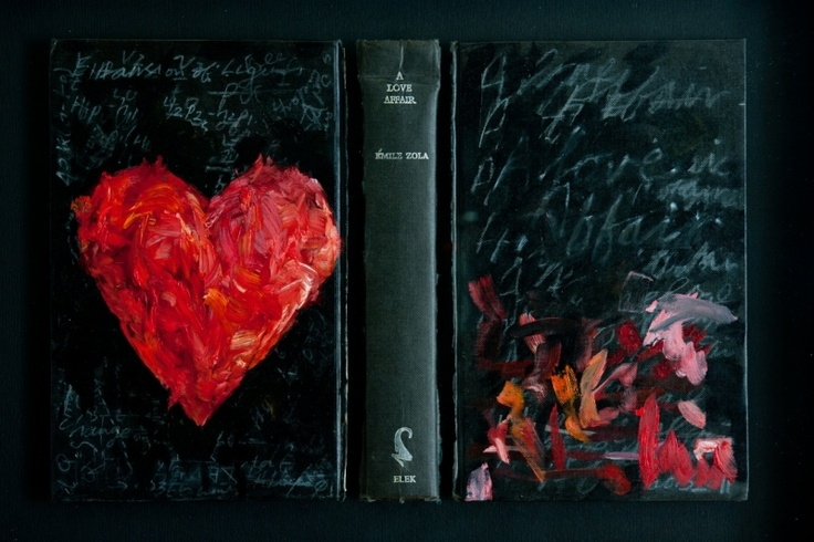 Love affair (2011) Deconstructed, painted book.  Olaf Bisschoff.