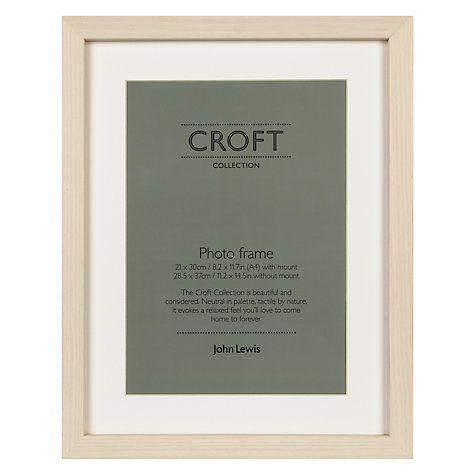 Buy John Lewis Croft Collection Photo Frames, Cream Online at johnlewis.com