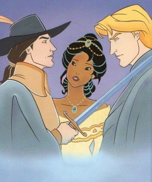 I let you in my biggest Disney secret. I really dont like John Smith, but I adore John Rolfe! Now I going to get flooded by hate mail XD John Rolfe and John Smith ( Pocahontas 1 and 2)