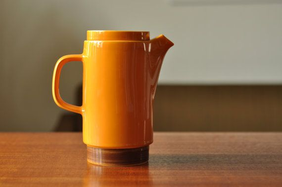 Egersund Unique Coffee Pot  Yellow and by thelittleblackhouse, kr225.00