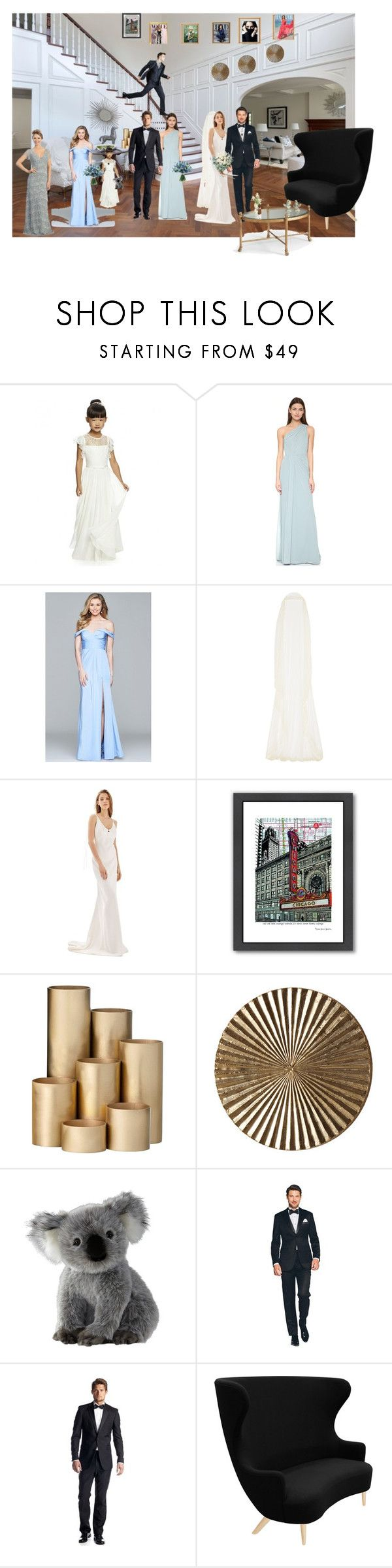 """Wedding"" by vegas777 ❤ liked on Polyvore featuring Monique Lhuillier, Faviana, Rime Arodaky, Topshop, Americanflat, ferm LIVING, WALL, Kenneth Cole Reaction, Tom Dixon and Chelsea House"
