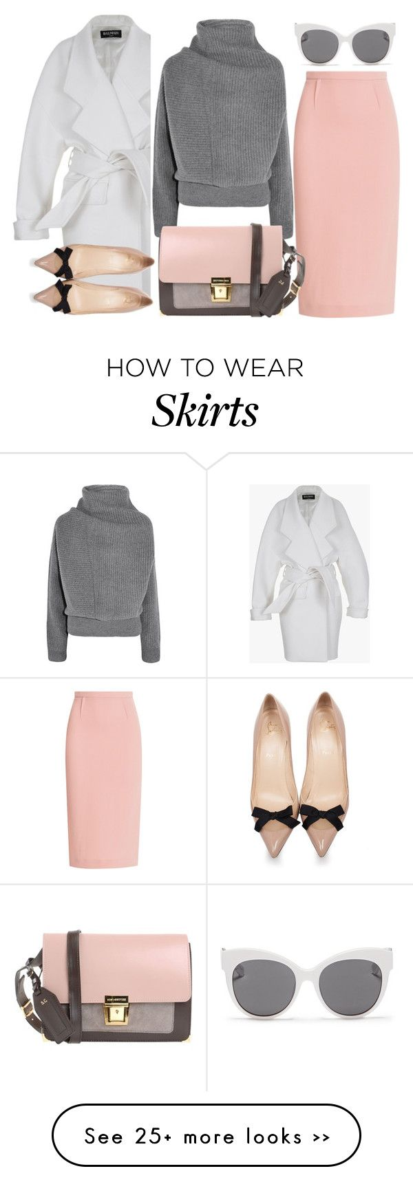 """#backtoschool"" by jiabao-krohn on Polyvore featuring Balmain, Acne Studios, Roland Mouret, Erika Cavallini Semi-Couture, Christian Louboutin, Blanc & Eclare and BackToSchool"
