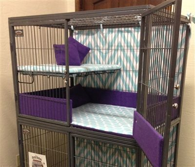 We offer a wide line of cages and custom pet supplies for your chinchilla, guinea pig (cavy), ferret, rat, rabbit, hamster and bird. Check out our wide line of cage accessories to add some flare to your pet's home. Fleece cage liners, wire floor conversion kits, organic supplements, fleece hammocks, fleece tubes and ledges, wood houses and wood shelves are only a few of the many items we carry. #hamsterpet