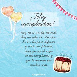 Dedicatorias de cumpleaños con tarjetas hermosas para regalar #TarjetasDeCumpleaños