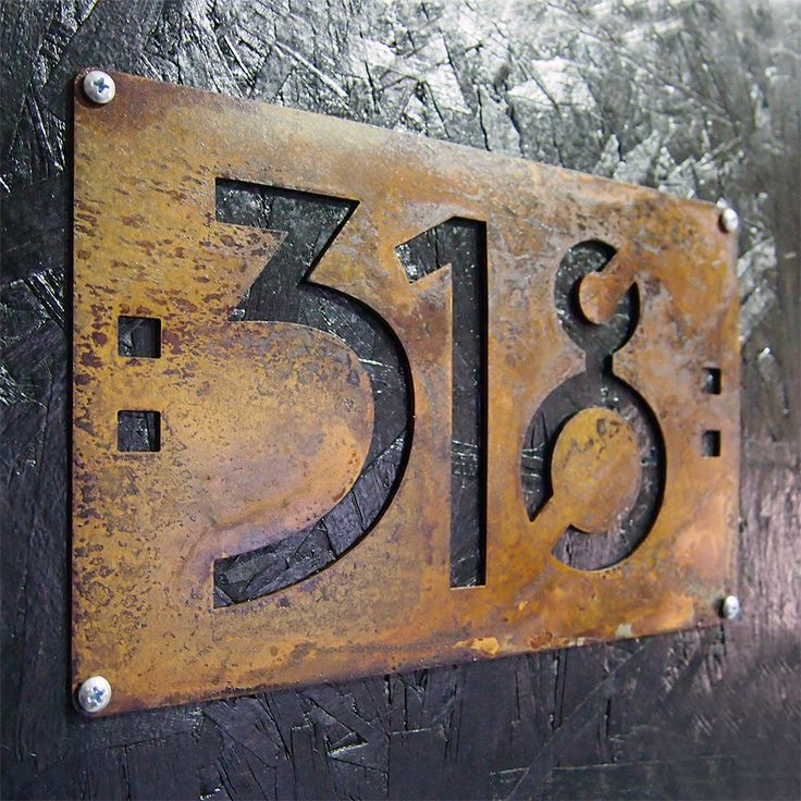 CUSTOM Mini Mission Style House Numbers in