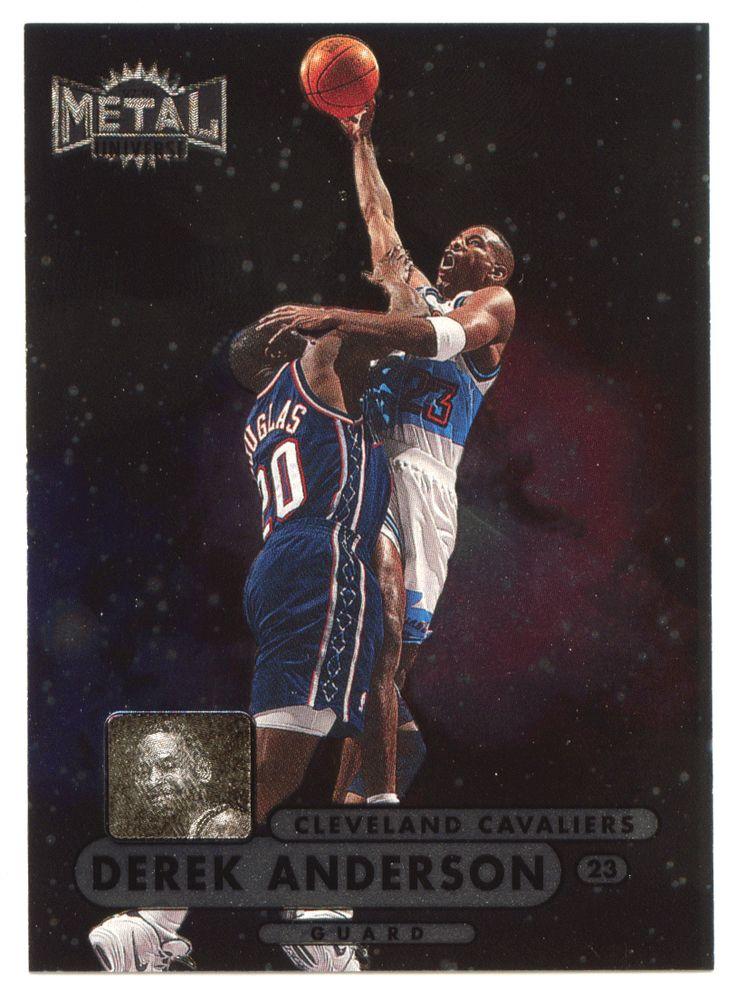 Derek Anderson RC # 40 - 1997-98 Skybox Metal Universe Championship Basketball NBA Rookie