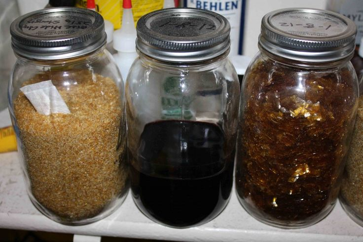 Use canning jars for inexpensive storage containers for your wood finishes, hide glues, and shellac flakes. These are great, they are air tight, and will not break your budget.
