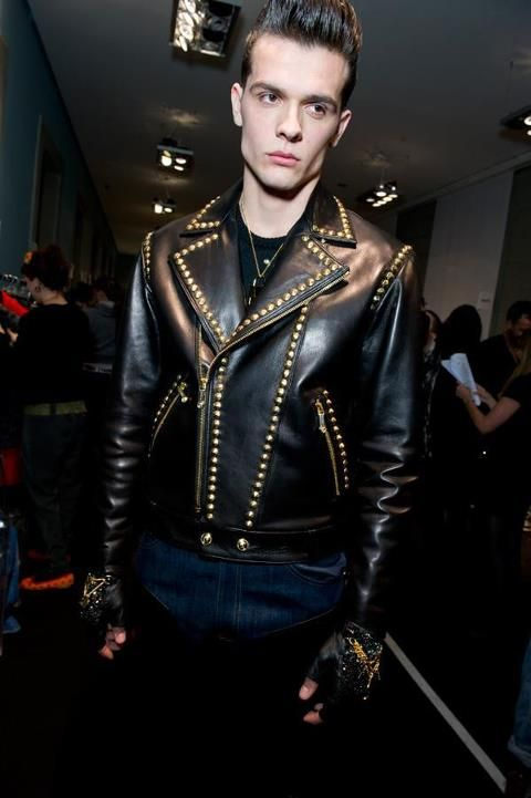 Versace Men's Fall 2012 Leather Jacket