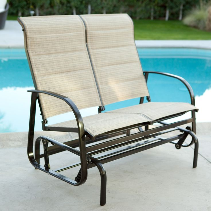 Coral Coast Del Rey Padded Sling Outdoor Glider Loveseat Gliders Products And Coral