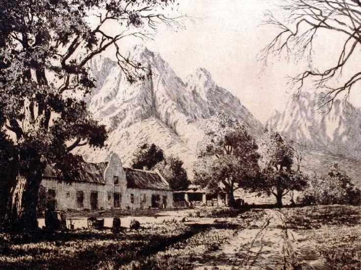 Tinus De Jongh (SA 1885 - 1942) Etching,  Vrydenburg, Signed & Titled in Pencil,