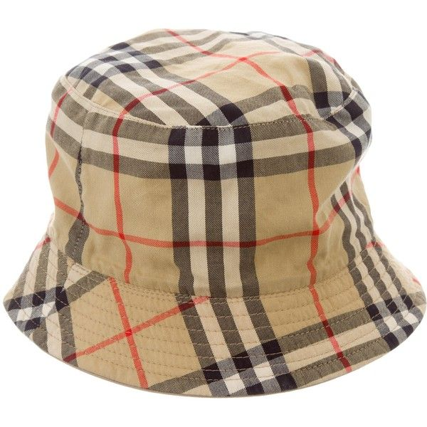 Pre-owned Burberry Reversible Bucket Hat ($95) ❤ liked on Polyvore featuring accessories, hats, neutrals, fishing hats, print hats, colorful hats, bucket hats and colorful bucket hats
