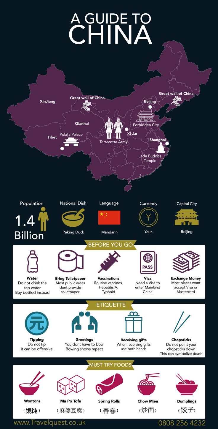 See our guide to China, with all of the essentials that you will need to know.