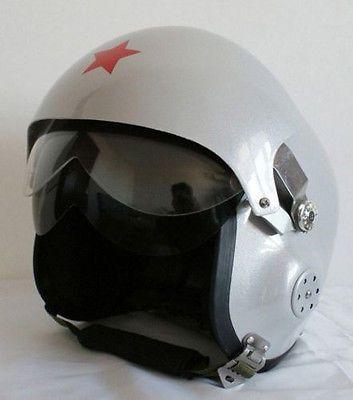 Military Motorcycle Scooter Helmet Dual Visor Jet Pilot/Flight Open Face