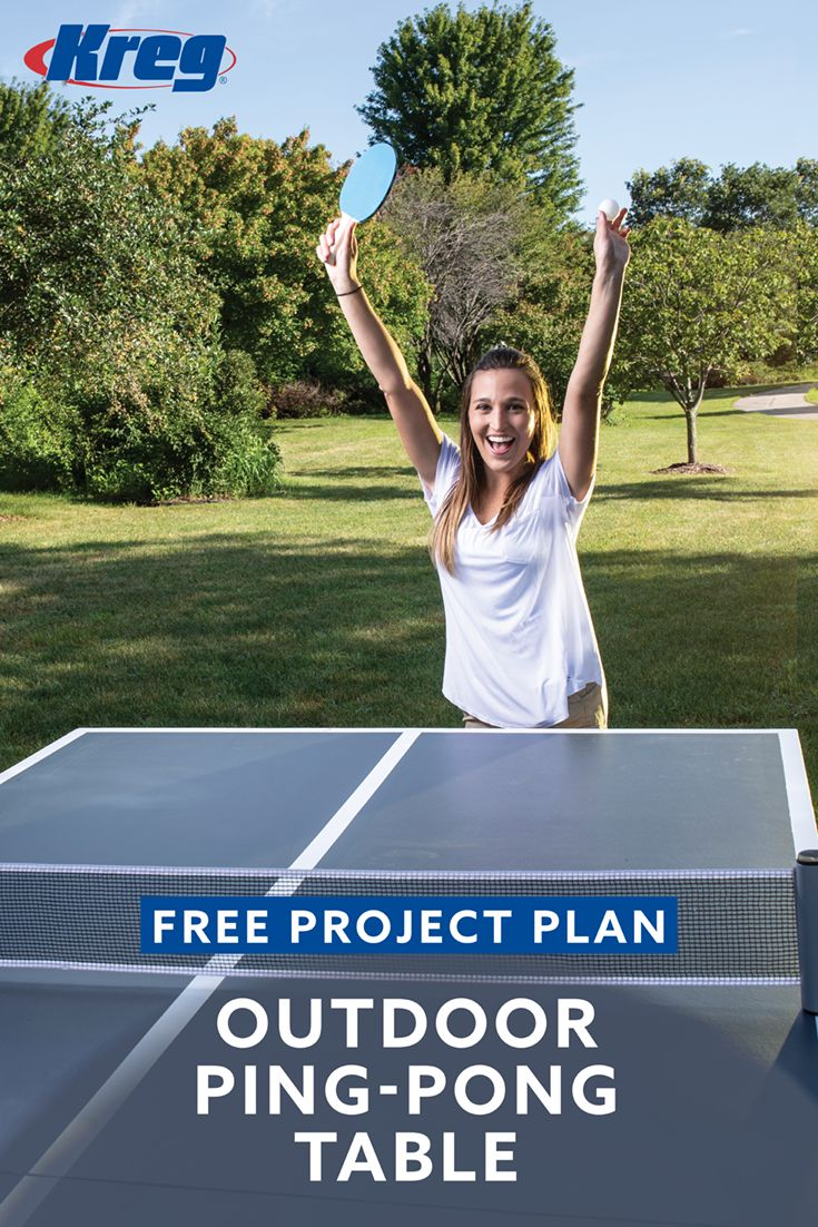 DIY Woodworking Ideas Take your backyard fun to a new level with this cool outdoor ping-pong table. Wi...